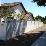Long White fence