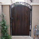 Wood Gate with Iron Frame