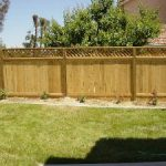 Wood fence with lattice