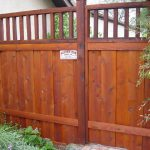 "72"" Picture Frame wood fence"
