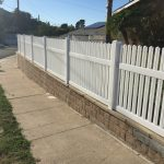 Long White Vinyl Fence